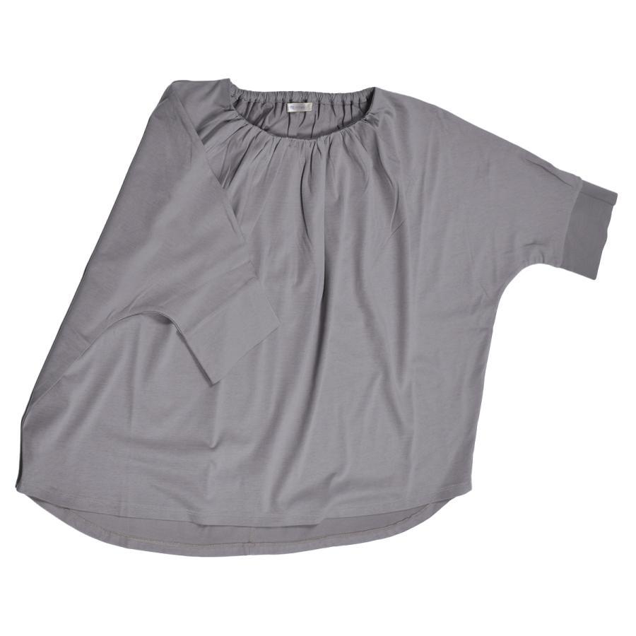送料無料 衿グリギャザー ドルマン 6分袖 プルオーバー32シルケット天竺 Tシャツ (メール便発送)|mimaca|11