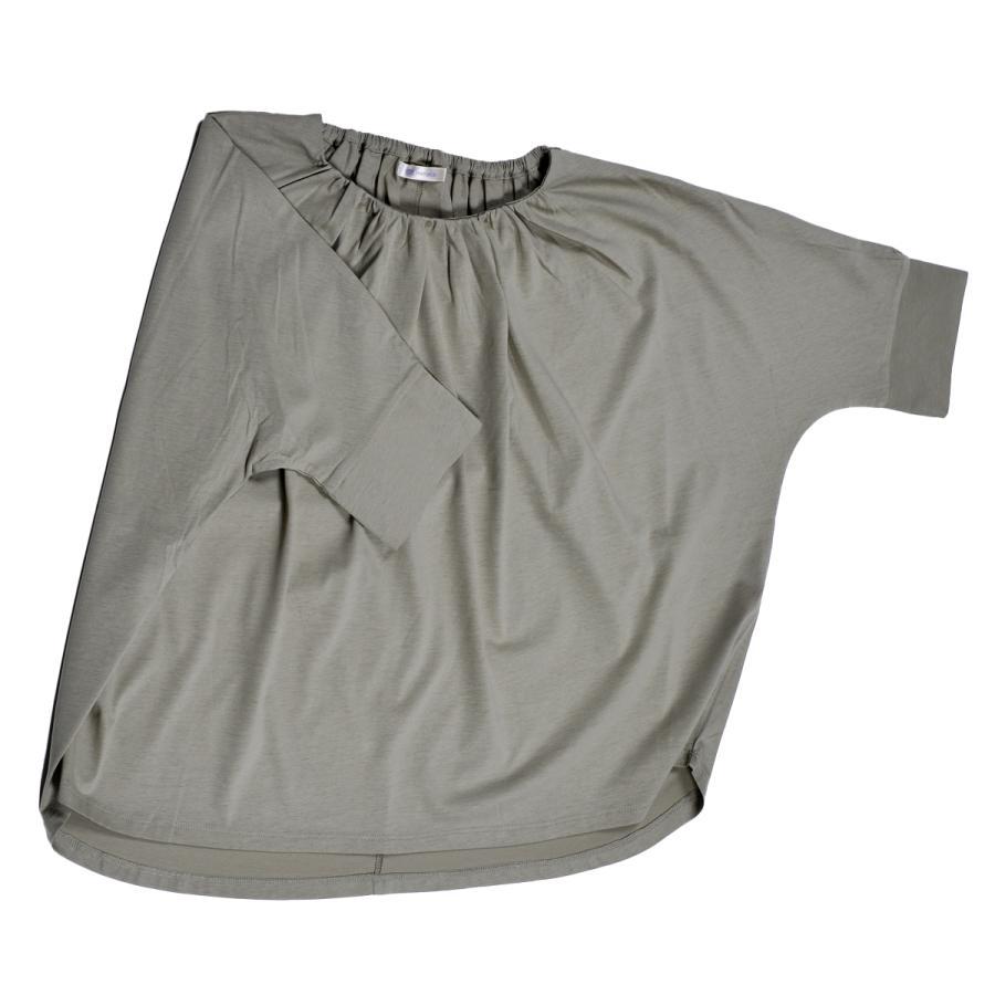 送料無料 衿グリギャザー ドルマン 6分袖 プルオーバー32シルケット天竺 Tシャツ (メール便発送)|mimaca|12