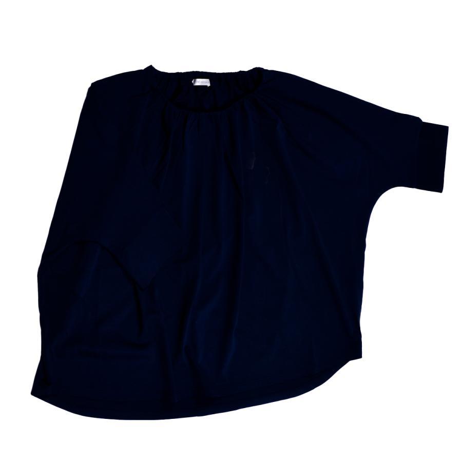 送料無料 衿グリギャザー ドルマン 6分袖 プルオーバー32シルケット天竺 Tシャツ (メール便発送)|mimaca|13