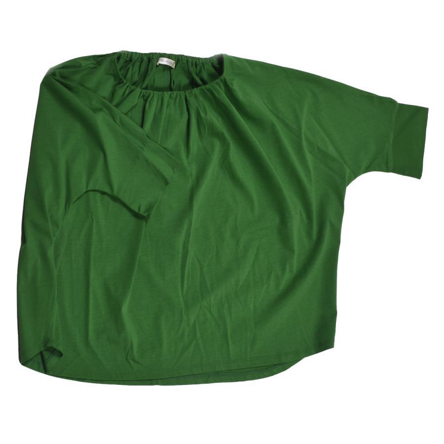 送料無料 衿グリギャザー ドルマン 6分袖 プルオーバー32シルケット天竺 Tシャツ (メール便発送)|mimaca|14
