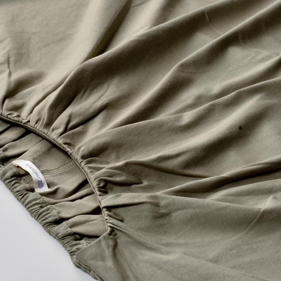 送料無料 衿グリギャザー ドルマン 6分袖 プルオーバー32シルケット天竺 Tシャツ (メール便発送)|mimaca|04