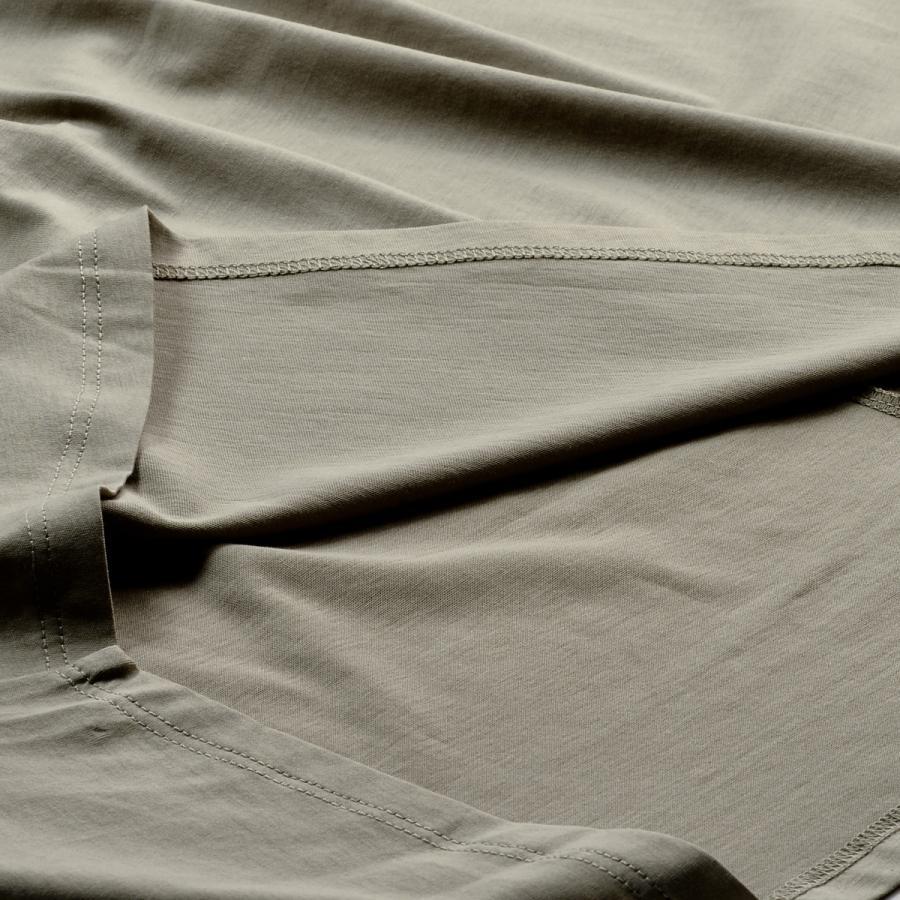 送料無料 衿グリギャザー ドルマン 6分袖 プルオーバー32シルケット天竺 Tシャツ (メール便発送)|mimaca|05