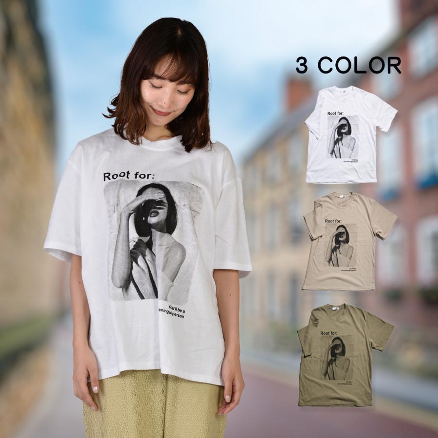 送料無料 転写プリントオーバー Tシャツ (メール便発送) mimaca