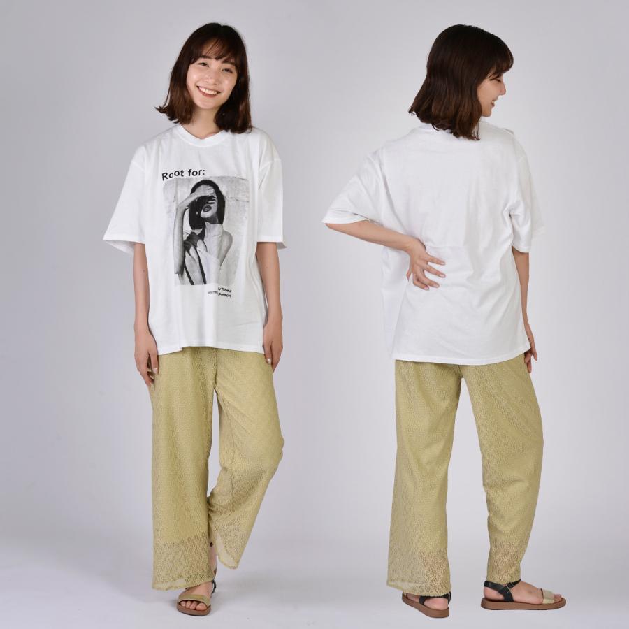 送料無料 転写プリントオーバー Tシャツ (メール便発送) mimaca 02