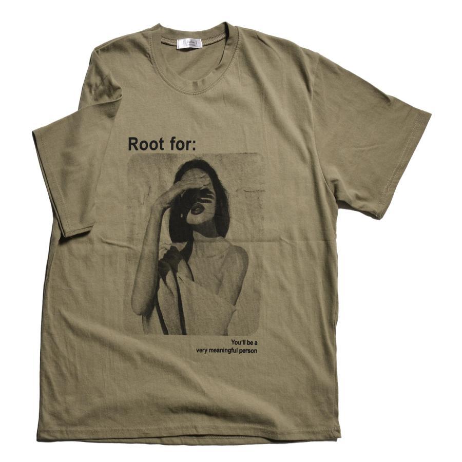 送料無料 転写プリントオーバー Tシャツ (メール便発送) mimaca 11