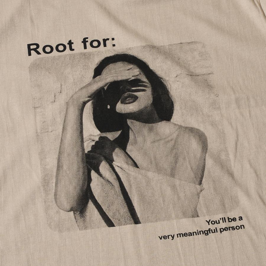 送料無料 転写プリントオーバー Tシャツ (メール便発送) mimaca 05