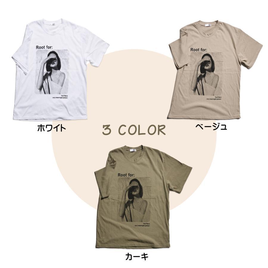 送料無料 転写プリントオーバー Tシャツ (メール便発送) mimaca 03