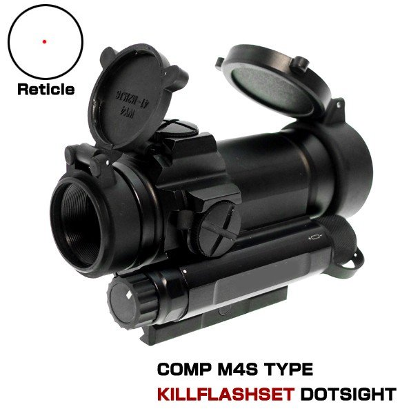 AIMPOINT COMP M4Sタイプ ドットサイト キルフラッシュ レンズカバー付 サバゲー サバイバルゲーム 装備