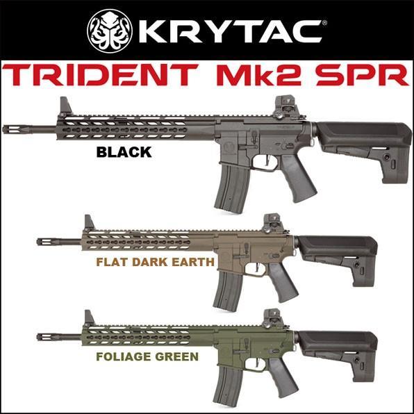 KRYTAC クライタック 電動ガン TRIDENT Mk2 トライデント SPR 18歳以上対象 BK FDE FG サバゲー 装備