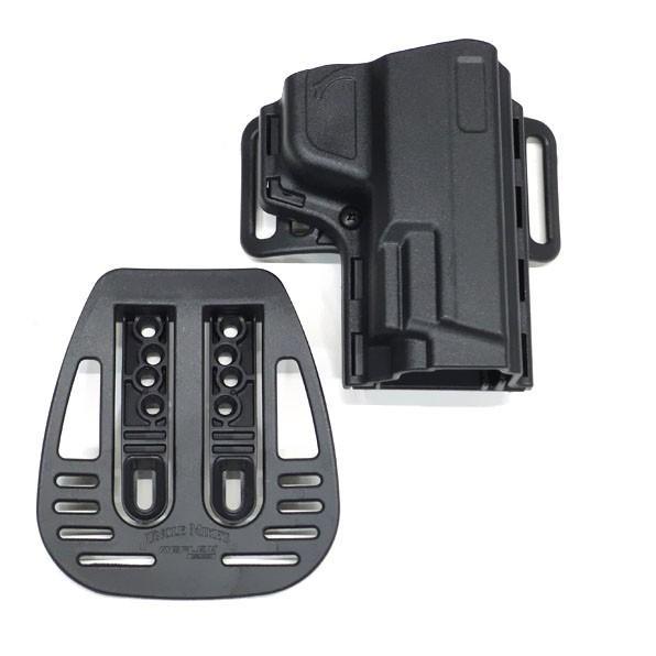 実物 アンクルマイク社製 オープントップ リフレックスホルスター S&W M&P9 SD9 SD40 右用 サバゲー 装備