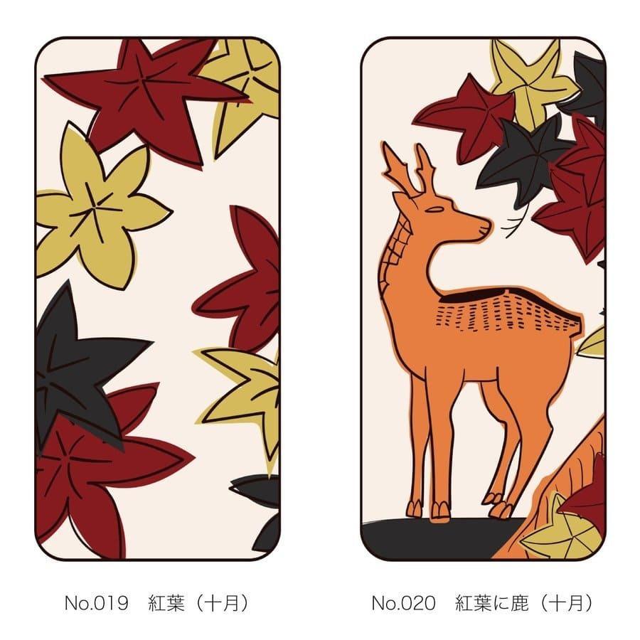 iPhoneケース 花札柄 スマホケース 和風 和柄 レトロ 携帯ケース ソフトケース The Shokunin|mimus-shop|11