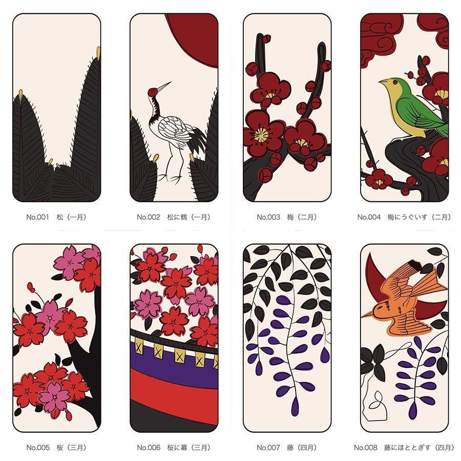 iPhoneケース 花札柄 スマホケース 和風 和柄 レトロ 携帯ケース ソフトケース The Shokunin|mimus-shop|14