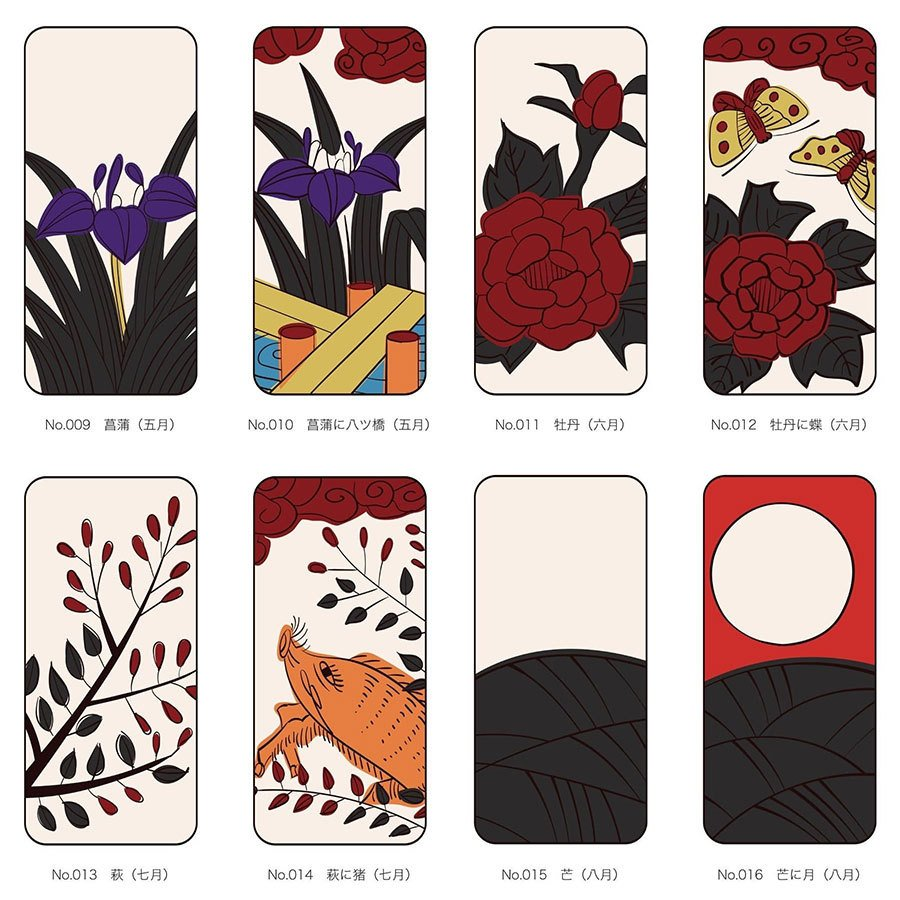 iPhoneケース 花札柄 スマホケース 和風 和柄 レトロ 携帯ケース ソフトケース The Shokunin|mimus-shop|15