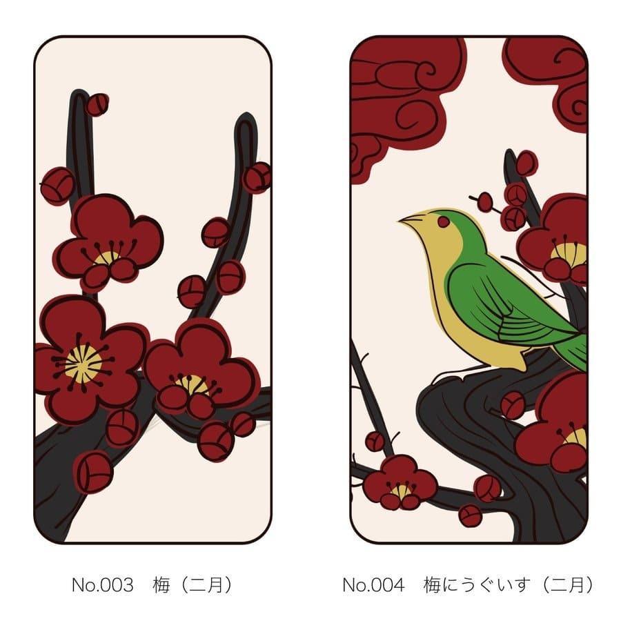 iPhoneケース 花札柄 スマホケース 和風 和柄 レトロ 携帯ケース ソフトケース The Shokunin|mimus-shop|03