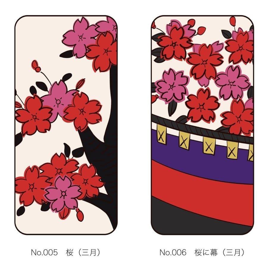 iPhoneケース 花札柄 スマホケース 和風 和柄 レトロ 携帯ケース ソフトケース The Shokunin|mimus-shop|04