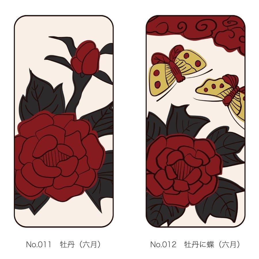 iPhoneケース 花札柄 スマホケース 和風 和柄 レトロ 携帯ケース ソフトケース The Shokunin|mimus-shop|07