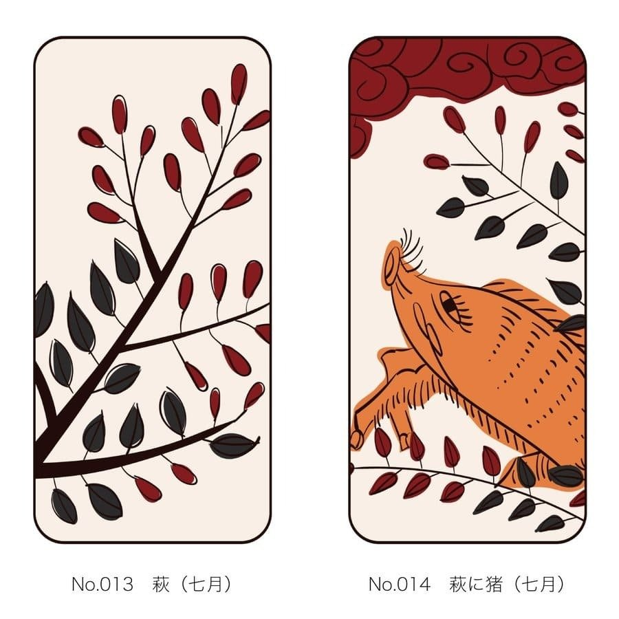 iPhoneケース 花札柄 スマホケース 和風 和柄 レトロ 携帯ケース ソフトケース The Shokunin|mimus-shop|08