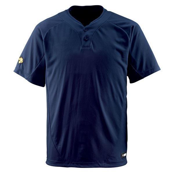 ポイント15倍デサント(DESCENTE) ベースボールシャツ(2ボタン) (野球) DB201 Dネイビー M送料無料