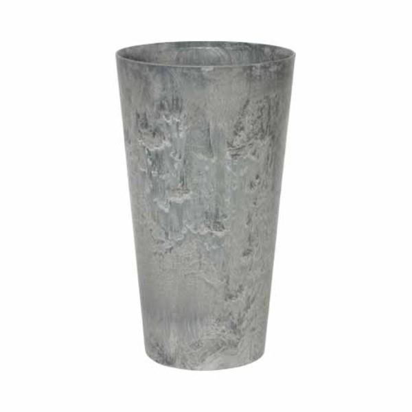 ポイント15倍底面給水型 植木鉢/プランター 〔トールラウンド型 グレー 直径42cm×高さ90cm〕 底栓付 『アートストーン』 〔園芸用品〕送料無料