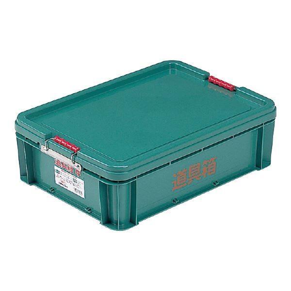 ポイント15倍三甲(サンコー) 左官用道具箱/ツールボックス 〔中〕 PP製 グリーン(緑)〔代引不可〕送料無料