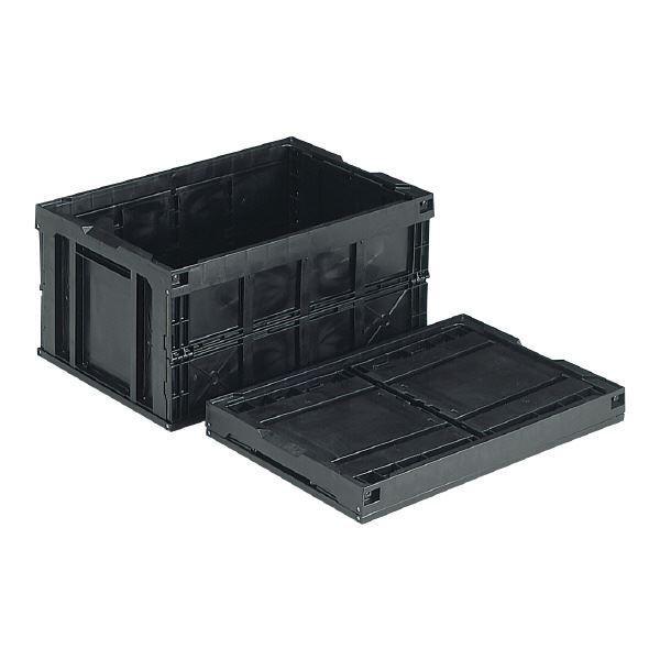 ポイント15倍三甲(サンコー) 折りたたみコンテナボックス/オリコン 〔76L〕 導電 75B ブラック(黒)〔代引不可〕送料無料