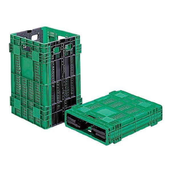 ポイント15倍三甲(サンコー) 折りたたみコンテナボックス/オリコン 〔95L〕 W95A グリーン(緑)〔代引不可〕送料無料