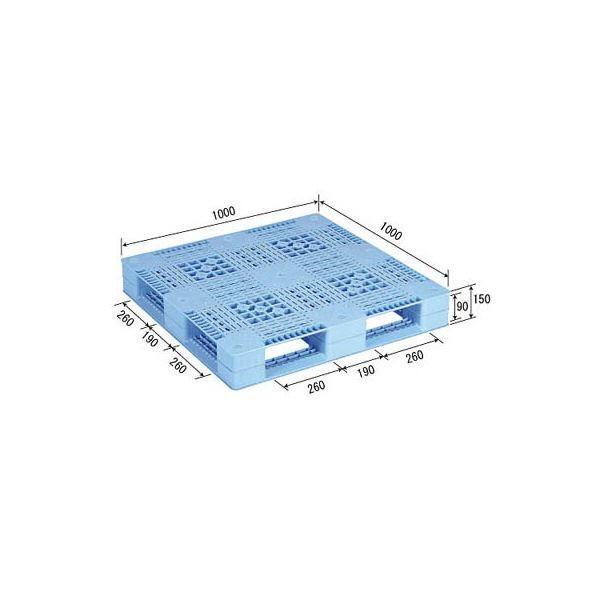 ポイント15倍三甲(サンコー) プラスチックパレット/プラパレ 〔片面使用型〕 D4-1010 ライトブルー(青)〔代引不可〕送料無料