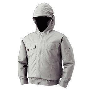 ポイント15倍空調服 フード付綿薄手長袖ブルゾン リチウムバッテリーセット BM-500FC06S5 シルバー XL送料無料