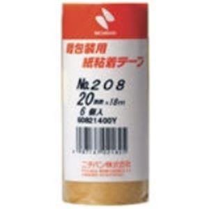 ポイント15倍(業務用50セット) ニチバン 紙粘着テープ 208-20 20mm×18m 6巻送料無料