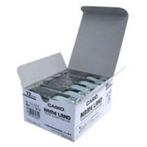 ポイント15倍(業務用5セット) カシオ計算機(CASIO) テープ XR-12X-5P-E 透明に黒文字 12mm5個送料無料