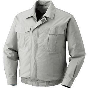ポイント15倍空調服 綿薄手長袖作業着 BM-500U  〔カラー:シルバーサイズ:L〕 リチウムバッテリーセット送料無料