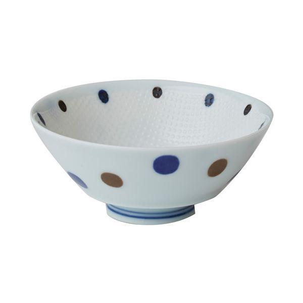 【あす楽対応】 青ドット5客セット 持ち易い茶碗 ポイント15倍(業務用2セット) いちがま JB2406-36送料無料-介護用品