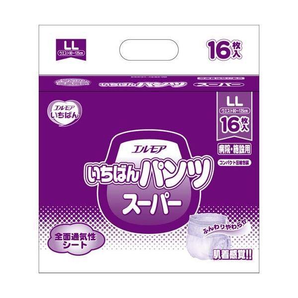 【メール便不可】 ポイント15倍カミ商事 いちばんパンツスーパーLL16枚×6P送料無料-介護用品