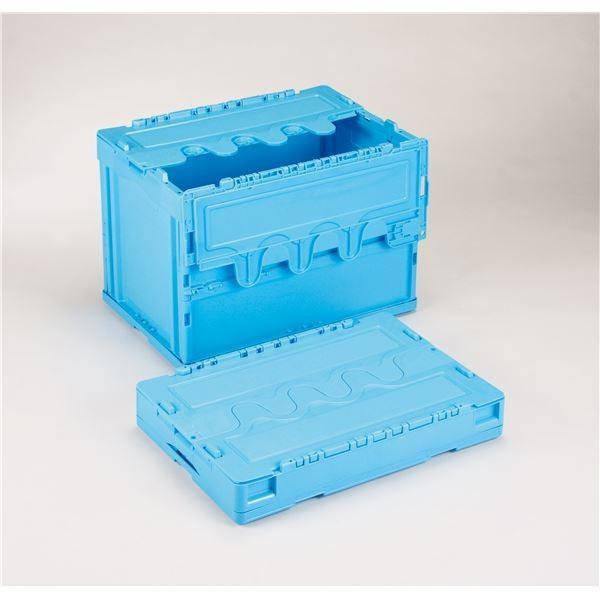 ポイント15倍フタ付き折りたたみコンテナ/オリコン 〔60L/ブルー〕 〔60L/ブルー〕 〔60L/ブルー〕 CF-S61NR 岐阜プラスチック工業〔代引不可〕送料無料 7d1