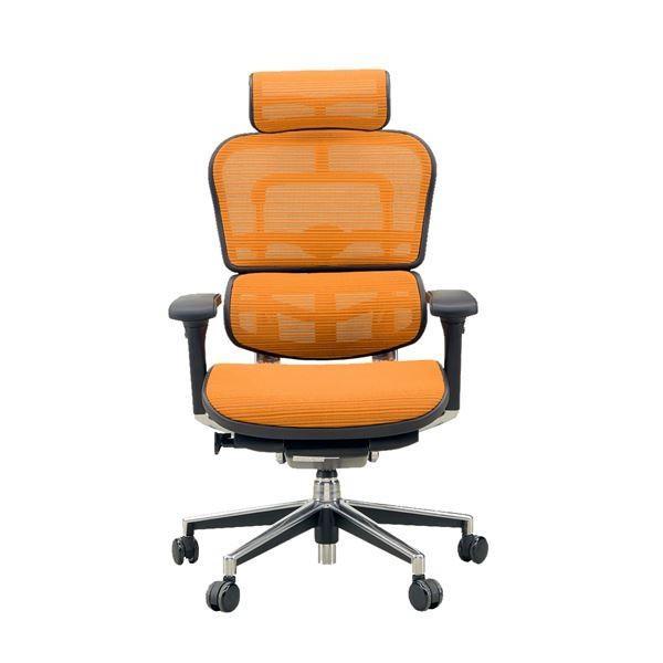 ポイント15倍オフィスチェア ポイント15倍オフィスチェア アームレスト付き ランバーサポート付き Ergohuman Basic(エルゴヒューマンベーシック) ハイタイプ オレンジ〔代引不可〕送料無料