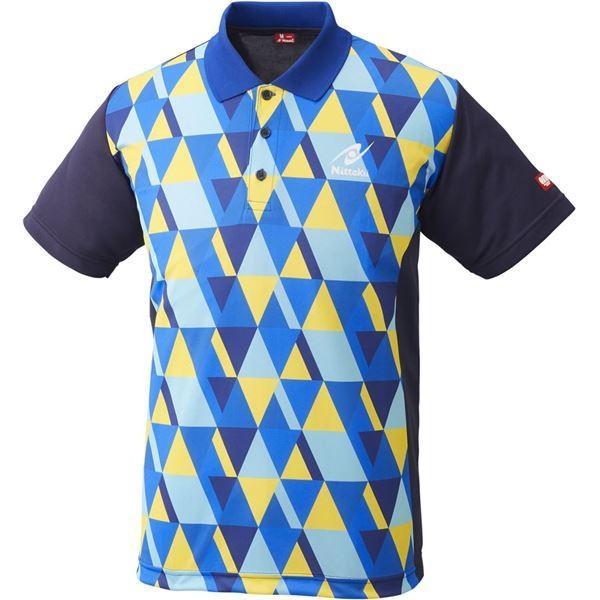 ポイント15倍ニッタク(Nittaku)卓球アパレル SCALE SHIRT(スケールシャツ)NW2179 ブルー S送料無料