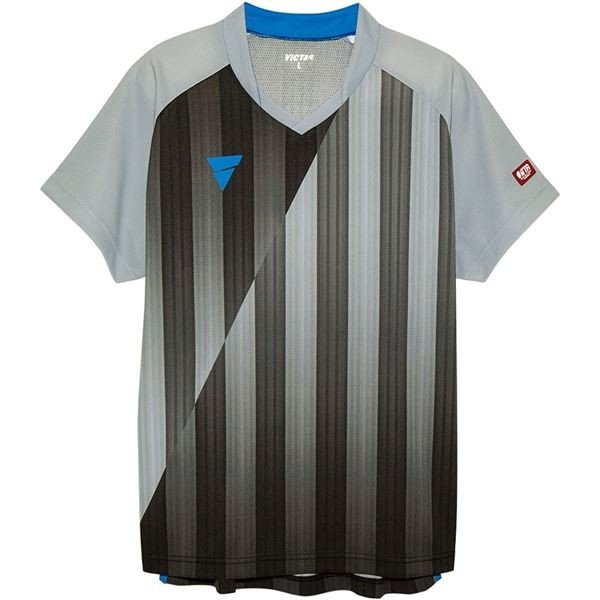 ポイント15倍VICTAS(ヴィクタス) VICTAS V‐NGS052 ユニセックス ゲームシャツ 31467 グレー XS送料無料