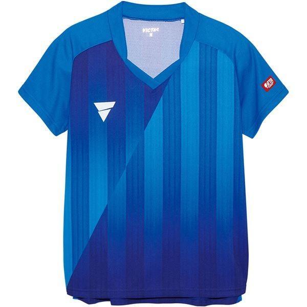 ポイント15倍VICTAS(ヴィクタス) VICTAS V‐LS054 レディース ゲームシャツ 31468 ブルー 2XL送料無料