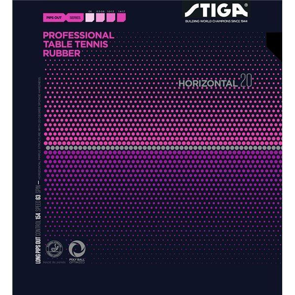 ポイント15倍STIGA(スティガ) 粒高ラバー HORIZONTAL 20(ホリゾンタル 20) 黒 薄送料無料