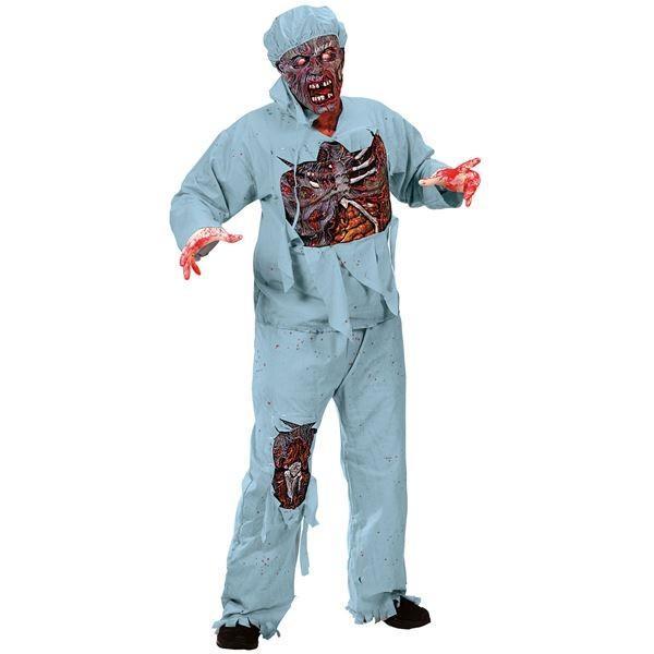 ポイント15倍コスプレ衣装/コスチューム Fun world Zombie Doctor ADLT CSTM 〔シャツ・パンツ・マスク・ゾンビマスク・帽子・グローブ〕送料無料