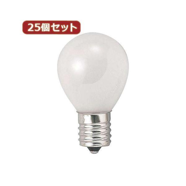 ポイント15倍YAZAWA 25個セット 25個セット クリプトンミニランプ25W形フロスト KS351722FX25送料無料