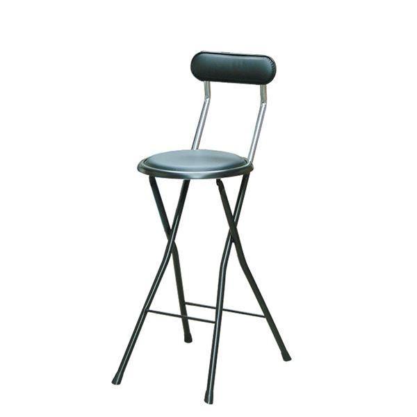 ポイント15倍折りたたみ椅子 ポイント15倍折りたたみ椅子 〔同色4脚セット ブラック×ブラック〕 幅36cm 日本製 スチールパイプ 『ニューニーダー ハイ』〔代引不可〕送料無料