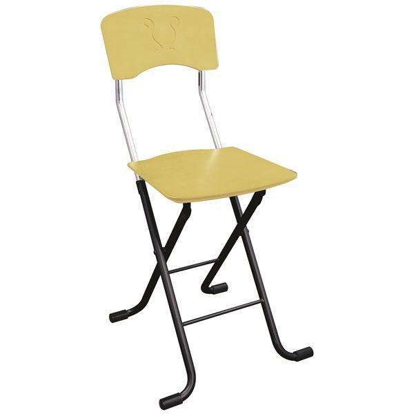 ポイント15倍折りたたみ椅子 〔2脚セット ナチュラル×ブラック〕 ナチュラル×ブラック〕 幅40cm 日本製 スチールパイプ 『レイラチェア』〔代引不可〕送料無料