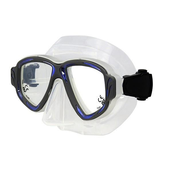ポイント15倍ダイビングマスク 〔CB ブルー〕 2眼型 大人用 ハードケース付き 『SYNTHESIS IST PROLINE M-200』送料無料