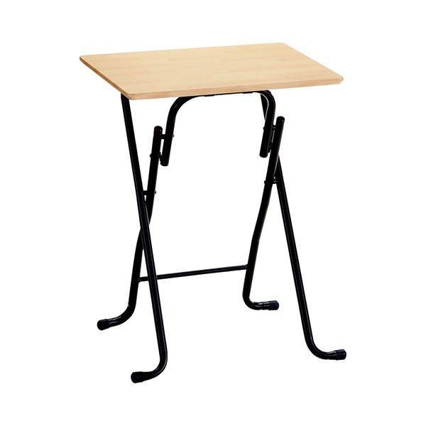 ポイント15倍(まとめ) ホームスタイリング イース フォールディングテーブル S W560×D420mm ナチュラル 1台 〔×5セット〕送料無料