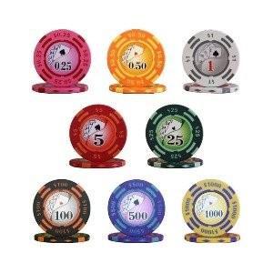 ポイント15倍フォースポット チップセット100枚(1、 10、 100、 500) - カジノチップ・ポーカーチップ送料無料