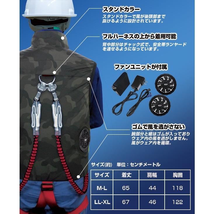 空調ベスト(ハーネス対応)フルセット サイズ:M-L サイズ:LL-XL クールボウイ 【熱中症予防 空調ベスト】|minakami119|03