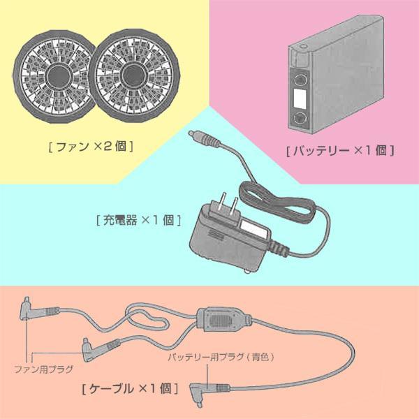 空調ベスト(ハーネス対応)フルセット サイズ:M-L サイズ:LL-XL クールボウイ 【熱中症予防 空調ベスト】|minakami119|05
