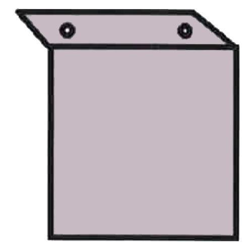 中輝度蓄光式避難口誘導標識用アルミL型プレート サイズ:200×200×40mm 【防災用品/避難標識】 minakami119