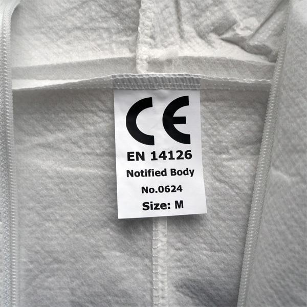 防護服 使い捨て サイズ:M 50着セット 【コロナ対策、インフルエンザ対策 】 minakami119 05
